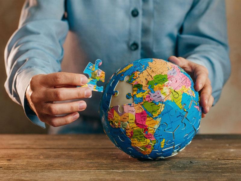 طرح کره زمین پازل های کروی