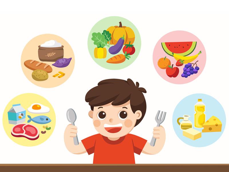 هرم غذایی رشد کودکان