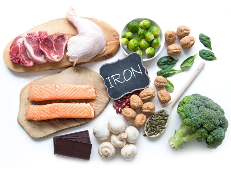 مواد غذایی آهن دار برای بچه ها