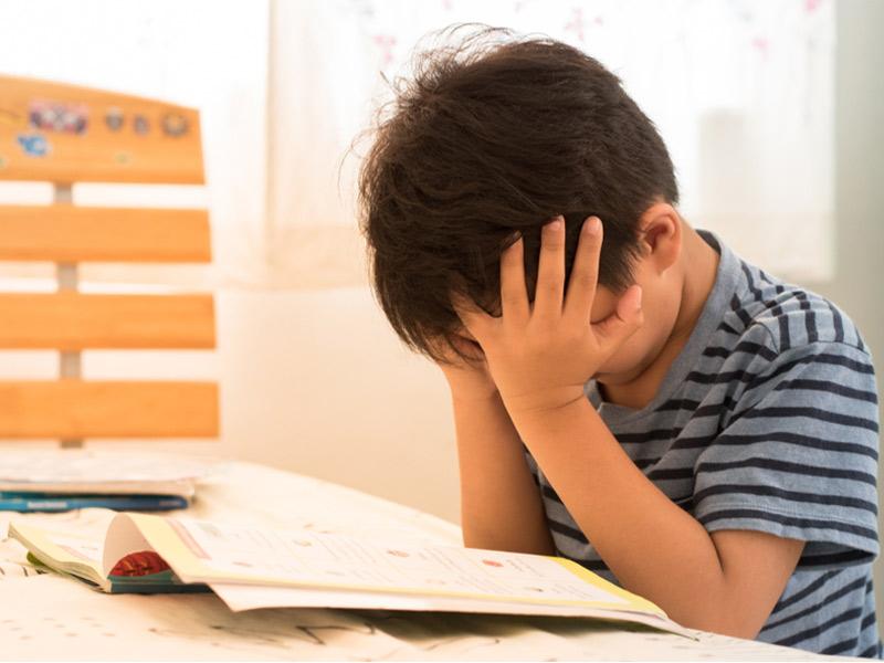 استرس کودکان در امتحانات