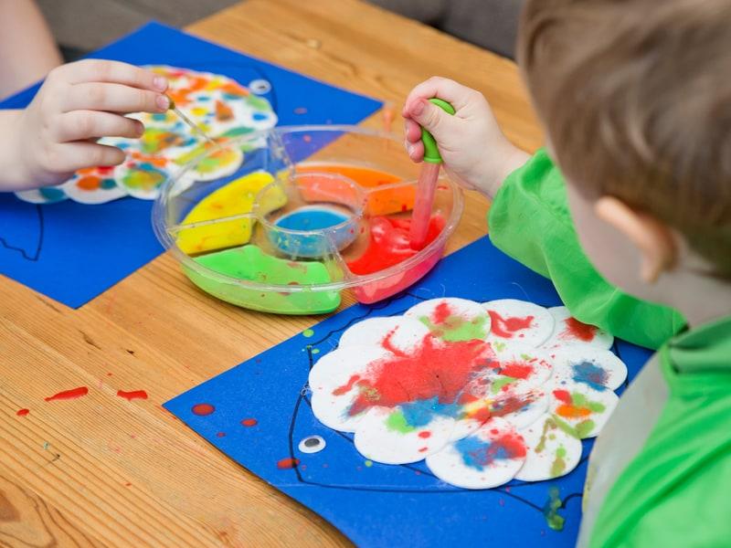 بازی قطرهچکان و رنگها