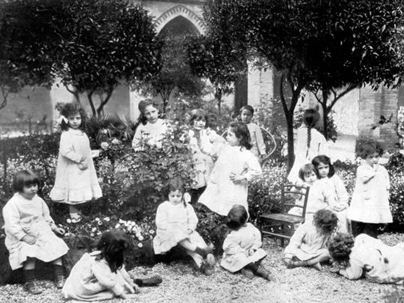 کودکان Casa dei Bambini مونته سوری