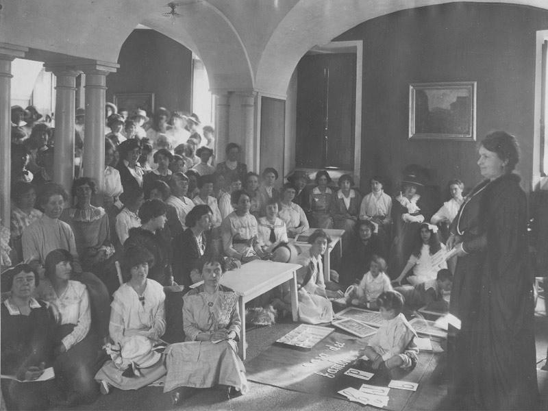 ماریا مونته سوری در بارسلونا، 1916
