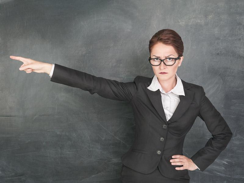 معلم سختگیر