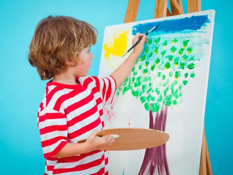 نقاشی درخت پسربچه