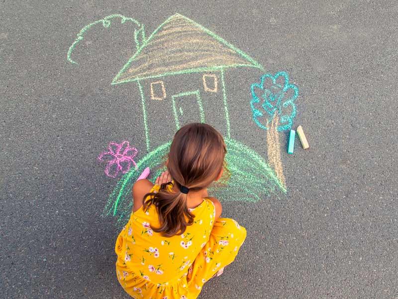 نقاشی خانه با گچ
