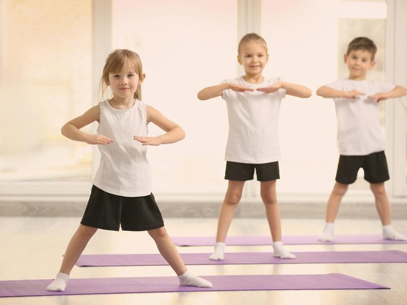 کودکان در حال تمرین