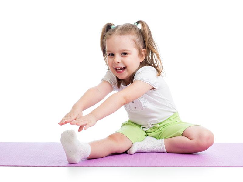 دختر بچه ورزشکار