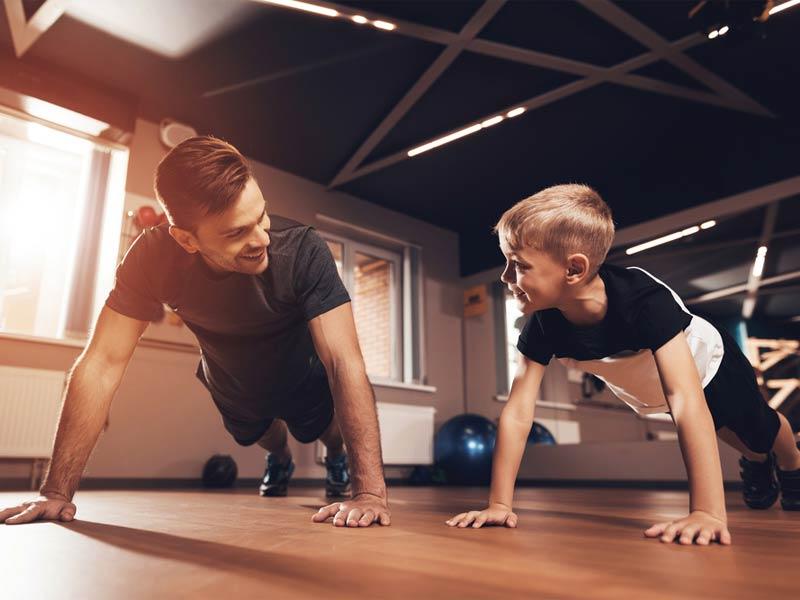 پدر و پسر ورزشکار