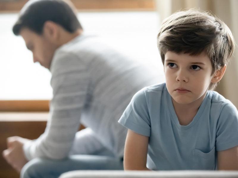 ناراحتی کودک و پدر