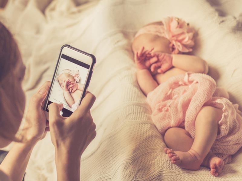 عکس از نوزاد خواب