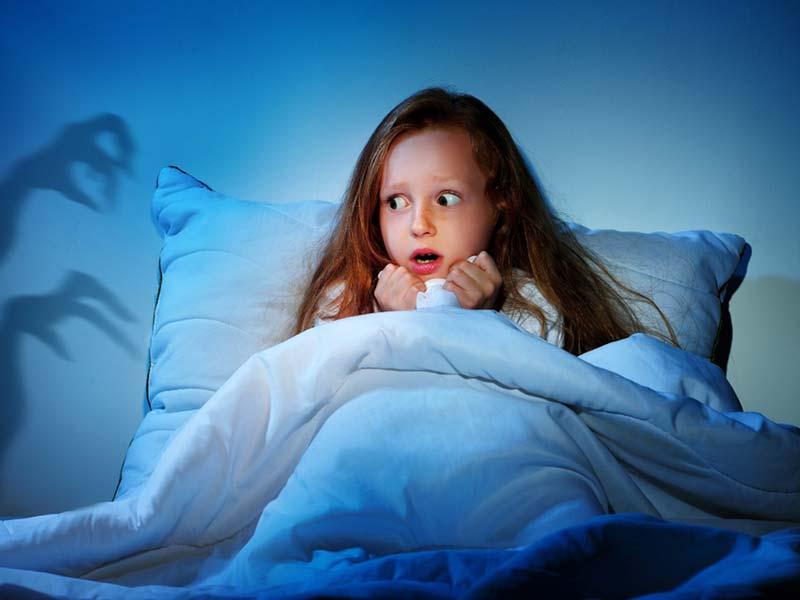 فوبیا کودک در شب