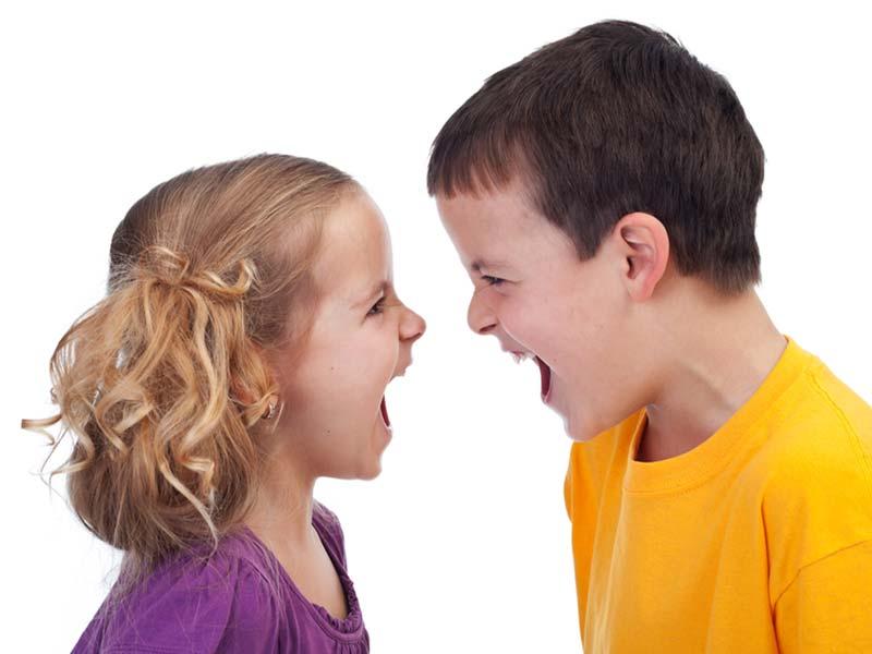عصبانیت و دعوا دو بچه