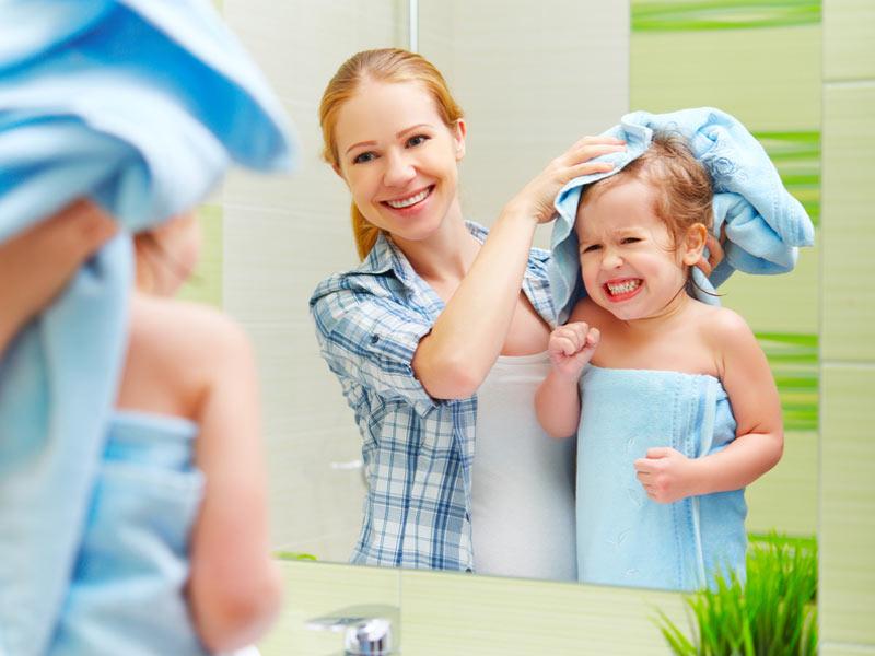 خشک کردن مو بعد از حمام